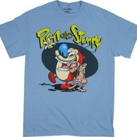 Ren and Stimpy T-shirt: Adult XL - Sky Blue