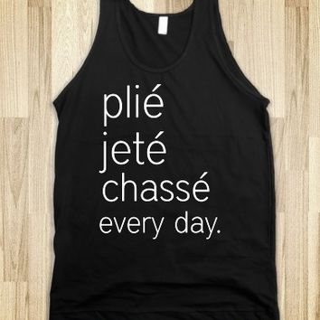 Supermarket: Pile Jete Chasse Every Day Ballet Tank Top from Glamfoxx Shirts