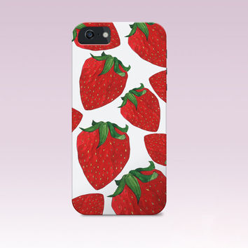 Strawberry, Fruit iphone Case,Summer iphone case, Summer phone case, Iphone 6 case , Iphone 5 case, Iphone 4 case, Summer iphone cover