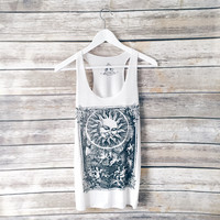 Sun And Angels Graphic Tank