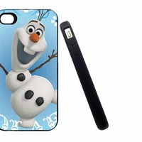 Iphone 5C Case, Thin Flexible Rubber Case Frozen Lovely Olaf Design