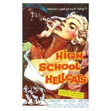 High School Hellcats Movie poster Metal Sign Wall Art 8in x 12in