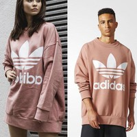 adidas women men fashion loose pullover sweatshirt