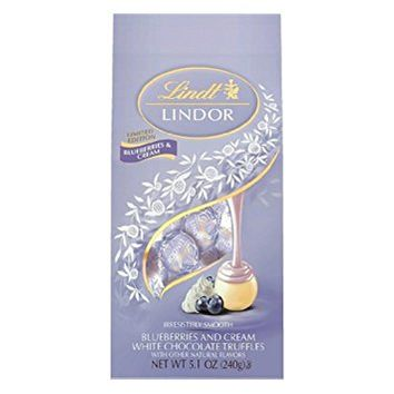 Lindt Blueberries & Cream White Chocolate Truffles 5.1 oz Bag