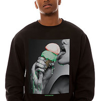 The Drip Crewneck Sweatshirt in Black