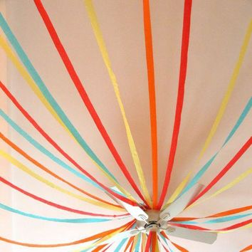 Crepe  Paper  Streamers  Christmas  Decoration  Paper