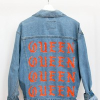 Queen Denim Jacket