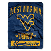 """West Virginia Mountaineers NCAA Triple Woven Jacquard Throw (Varsity Series) (48x60"")"""