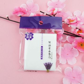 25pcs 100% natural cosmetic makeup cleaning cotton pads, facial cleansing make up remover pads