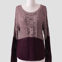 Evening Skies Colorblock Sweater