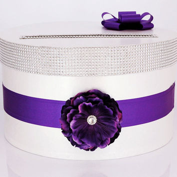 Card box / Wedding Box / Wedding money box - purple