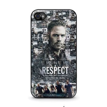 fast furious 7 paul walker iphone 4 4s case cover  number 2