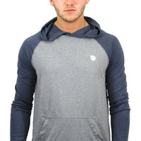 Dopest Hooded Raglan in Heather & Blue
