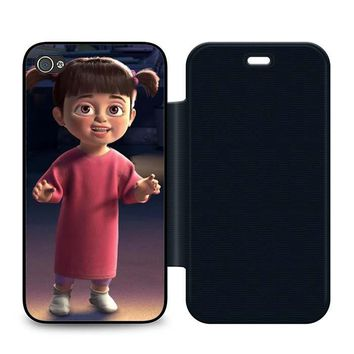 Monsters Inc Boo Fun Leather Wallet Flip Case iPhone 4 | 4S