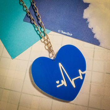 Heartbeat Blue Necklace [Limited Edition]
