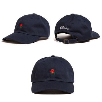 Navy Blue The Hundreds Rose Strap Cap Adjustable Golf Snapback Baseball Hat