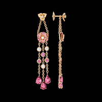 Rose gold Tourmaline Diamond Earrings G38U0054 - Piaget Luxury Jewelry Online