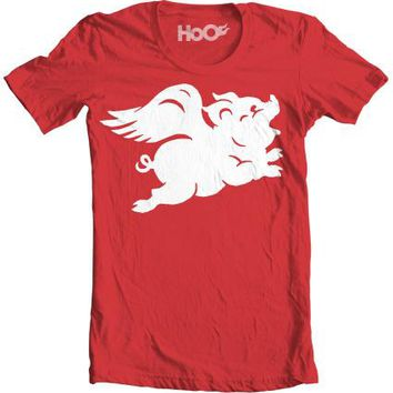 Men's HoO High on Octane Pigs on the Wing Graphic T-Shirt