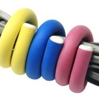 Amazon.com: Flexi Ties by UT-Wire Reusable Cable Ties/Wrap to Organize Cords,Yellow/Pink/Blue, 6-Piece Pack: Kitchen & Dining