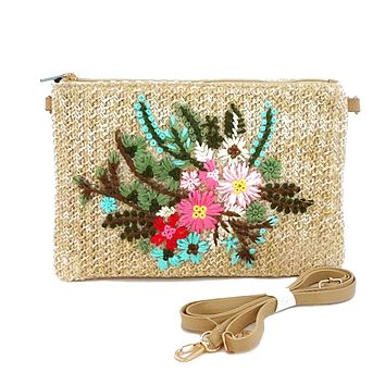 Flower Clutch in Natural