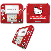 Hello Kitty habillage autocollant vinyle pour Nintendo 2DS - Rouge