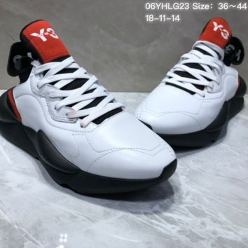AUGUAU A453 Adidas Sneakerhead Y-3 Running Shoes White Black Red