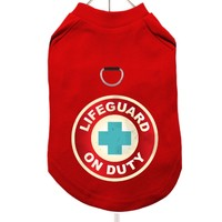 """Lifeguard On Duty"" Harness-Lined Dog T-Shirt 
