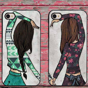 BFF Best Friends Girly Heart Phone Cases for iPhone 6 6 plus 5c 5s 5 4 4s