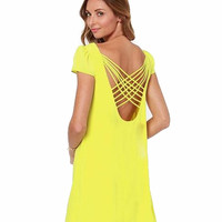 "CHIC ""Lattice Babydoll"" Flowy Chiffon Dress (2 colors available)"