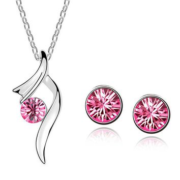 FREE!  Women's Synthetic Crystal Earring and Necklace Sets