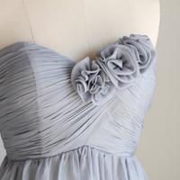 Bridesmaid Dress/party dress/strapless  dress/knee by FM908