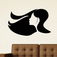Wall Decal Vinyl Sticker Beauty Girl Hair Salon Spa Decor Sb479