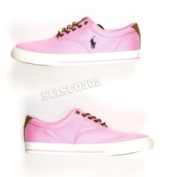 Polo Ralph Lauren Sneakers Vaughn Pink Canvas Lace Up