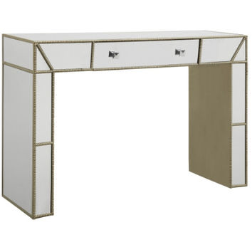 Silver Stud Mirrored Desk