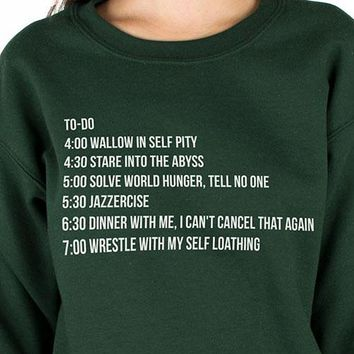 Christmas To-Do List Sweatshirt