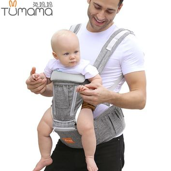Tumama Ergonomic Baby Carrier Infant Baby Hipseat Carrier Waist Stool Front Facing Backpack Kangaroo Baby Wrap Sling for 0-36M
