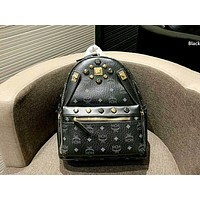 MCM 2019 new men and women models wild simple backpack black