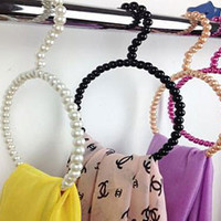 Kloset Kandy Pearl Scarf & Towel Hangers Covered with Pearl Beads
