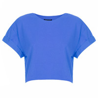 Basic Roll Sleeve Crop Tee - Jersey Tops - Clothing - Topshop USA