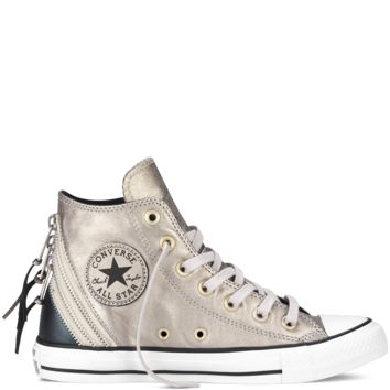 Converse - Chuck Taylor All Star Metallic Tri Zip - Portrait Grey - Hi Top