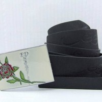 Cheap ED Hardy Genuine Leather belts woman's and men's Business Waistband Belt Luxury Casual fashion Belt sale-843368