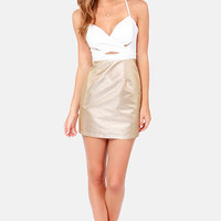 Gild to Go Ivory and Gold Dress