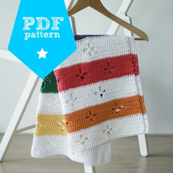 Funky fifties retro blanket: crochet pattern (PDF)