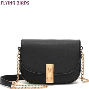 FLYING BIRDS chain bags women leather handbags bolsas high quality women's messenger bags designer tote summer style Saddle A835