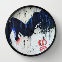 """keepin it 100"" Wall Clock by Jennifer Pennacchio"