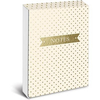 Cream and Gold Pocket Note