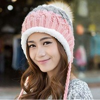 Lovely Hat For Women Add Wool Beanie Knitted Cap To Keep Warm In Winter Hat Earmuffs Cap