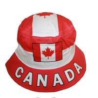 CANADA Country Flag ADULT Bucket Hat Cap.. SIZE 7 3/8.. New