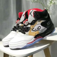 Air Jordan 5 X Supreme Men Casual Sport Running Basketball Shoes Sneakers I-XYXY-FTQ