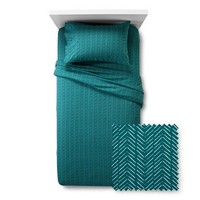 New Jersey Sheet Set Prints Turquoise Twin Extra Long